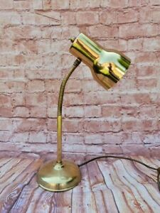 VINTAGE BRASS BHS FLEXI NECK DESK LAMP