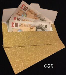 Sparkling Golden Glitter Christmas Money Gift Envelope Wedding Cash Gift Wallets