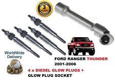 für FORD RANGER 2.5TD Thunder 2001-2006 4x Diesel Glühkerzen + Glühkerze Stecker