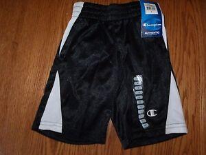 Nwt Boys Champion Boys Athletic Shorts White Black Basketball Size 4
