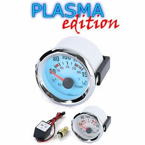 Öltemperatur Anzeige Zusatz Instrument Universal 52mm Plasma Blau beleuchtet