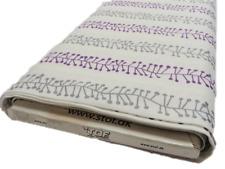 FQ Pure purple grey light cream quilting cotton fabric line craft retro wavy
