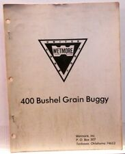 Wetmore 400 Bushel Grain Buggy, Tonkawa, OK, Parts Manual