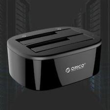 """Orico USB3.0 Dual Bay SATA Hard Drive Docking Station 2.5/3.5"""" HDD Dock Clone O1"""