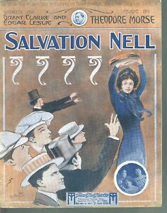 Salvation Nell 1913 Large Format Sheet Music