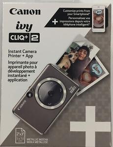 "Canon Ivy Cliq+ 2 Instant Camera Printer + App Metallic 2"" x 3"" Photo Size New"