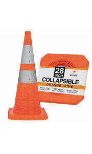 """28"""" Collapsible Traffic Cone Pop Up Reflective Parking Emergency Safety Cone"""