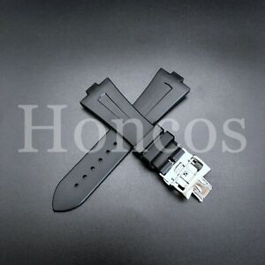26X18 MM Rubber Watch Strap Band Brown Fits For Vacheron Constantin Overseas