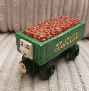Thomas Wooden Railway Track Chocolate Rickety Train Mr Jolly - Rare Variant