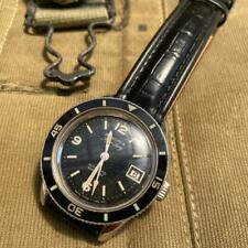 Blancpain Fifty Fathoms Aqualung Black Dial 1960s Vintage Military Diver's Watch