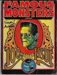 FAMOUS MONSTERS # 100 WARREN 1973 FORREST ACKERMAN SIGNATURE