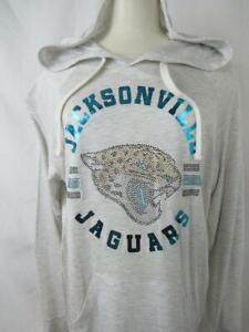 Jacksonville Jaguars Womens M Touch Rhinestone Logo Hooded T-shirt  AJJS 128