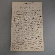 Autograph Schriftsteller Ernst Wechsler 17.12.1883 (54557)