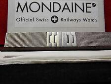 Mondaine Swiss Railways Watch Band A 22mm Mesh Men's Steel Bracelet w/Matte buck