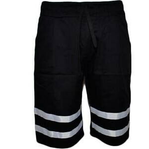 Pantalone short corto uomo bermuda pantaloncini tuta bicolore nero molla moda st