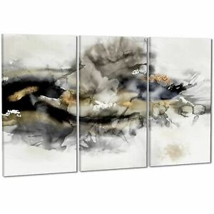 Abstract Black and White Gold Design Canvas Art Prints