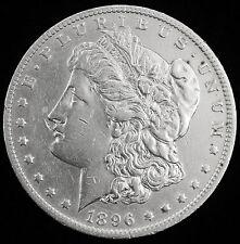 1896-o  Morgan Silver Dollar.  A.U.
