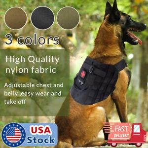 Tactical Police K9 Military Dog Vest Harness Service Canine Nylon