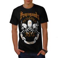 Wellcoda Propaganda Death Mens T-shirt, Vengeance Graphic Design Printed Tee