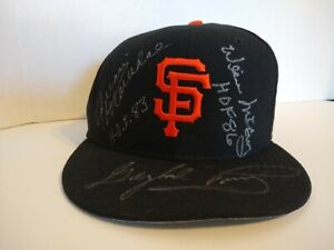Willie McCovey Juan Marichal Gaylord Perry Signed Autograph New Era Hat - Giants