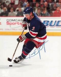 Brian Leetch New York Rangers Autograph 8x10 *1054