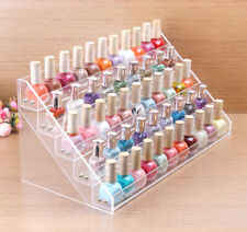 5 Display Clear Rack Acrylic Make Up Case Nail Polish Storage Organizer Stand