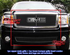 Fits GMC Sierra 1500 New Body/07-2010 Denali Black Mesh Grill Combo 07-2013