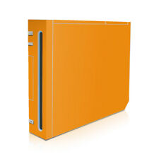Wii Game Console Skin - Solid Orange - Decal Sticker