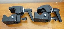 Lot Two (2) Black Manfrotto 035 Super Clamps (#1935) Art.035