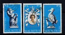 Mauritius 1953 Coronation Queen Elizabeth II, gestempelter seltener Satz.