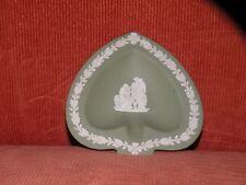 VINTAGE WEDGWOOD GREEN SPADE JASPERWARE jasper ware spade ashtray