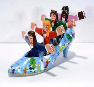 Folk Art Outsider Art Choir in a Shoe Jesse Cooper self-taught 2000 Assemblage