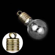 Clear Empty Screw Cap Wishing Glass Bottles Perfume Vial DIY  Necklace  Pendant