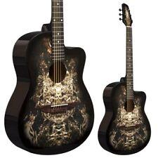 Lindo 933C Alien Black Acoustic Guitar & Gigbag   Free Express Delivery Sci-Fi