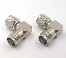 2PCS RF Connector Right Angle Mini UHF Adapter Mini UHF Male to TNC Female