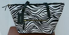 Sorella New York Casual Stacy Ultimate Work Tote Tablet Laptop Bag Blk Wh Zebra