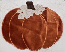 New listing Elrene Velvet Pumpkin 15 x 17.25 Placemat Orange