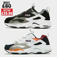 FILA Mens RAY TRACER Trainers Shoes - BLACK or WHITE - Size 7 to 11 **New*RRP£80