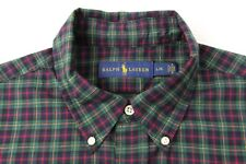 Ralph Lauren Plaid long sleeve polo button up vintage 90s hip hop