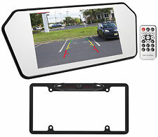 "Jeep Wrangler 7"" Glass Rearview Mirror Monitor w/ Bluetooth/USB/SD+Backup Camera"