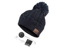 NetworX Bommel-beanie Mütze mit Bluetooth-headset schwarz