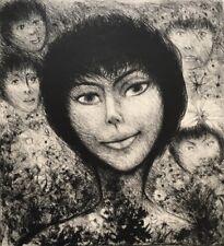 EDOUARD GOERG (1893 Australie-1969 France) Portrait de femme entourée d'enfants