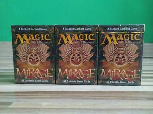 3 PACK Magic the Gathering Mirage Starter Deck Factory Sealed New