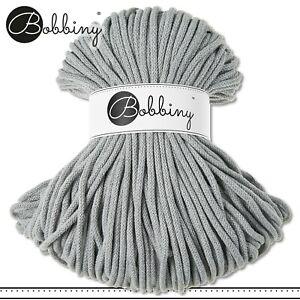 Bobbiny 100 m Flechtkordel 5 mm | Silver | Basteln Baumwolle Hobby PREMIUM