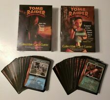 TOMB RAIDER Lara Croft Collectible Card Game CCG Partial Set 1-150 w/2 Starters