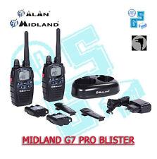 MIDLAND G7 PRO COPPIA 2 RADIO RICETRASMETTITORE PMR 466 WALKIE TALKIE BIBANDA