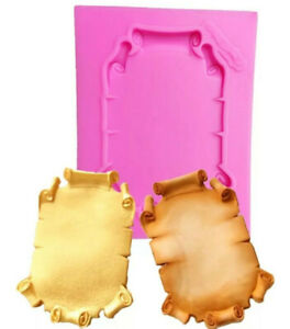 SCROLL/FRAME SILICONE MOULD/MOLD-MIRROR/OLD MAP-PIRATE-CAKE DECORATING FONDANT