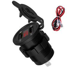 5V 4.2A Dual 2 USB Charger Socket Adapter Power Outlet 12V 24V Car Motorcycle hi