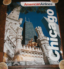 AMERICAN AIRLINES POSTER TO CHICAGO