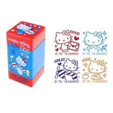 Sanrio Hello Kitty 2.8W x 5.5H x 2.8Dcm 4-In-1 Self-Inking Stamp (9-4974-43)